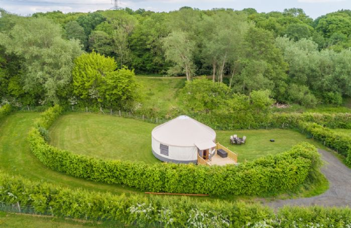 Other than its sisters, Ash Yurt and Oak Yurt, it is unlike any other yurt in the UK