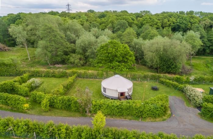 Private parking is available next to Willow Yurt