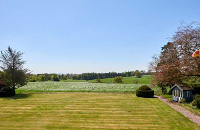 Guest can enjoy the large, four acre garden which includes a flower garden and croquet lawn.