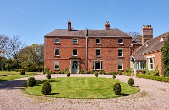 There's plenty of parking space at Sugnall Hall, with room for up to 15 cars