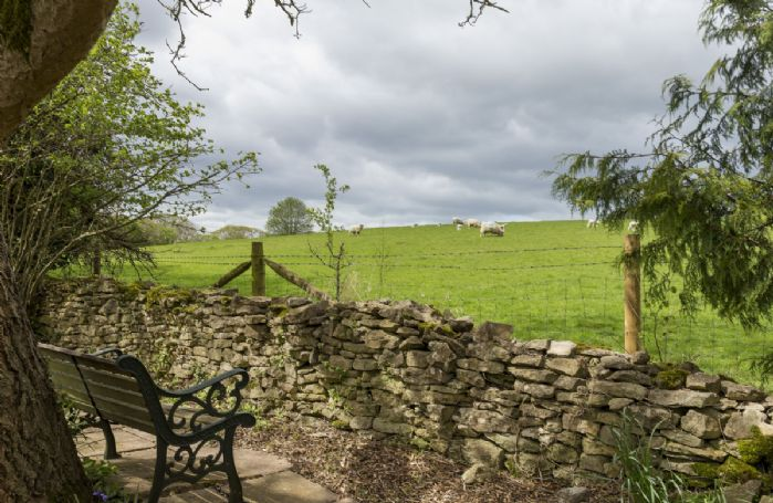Bench overlooking the stunning countryside views