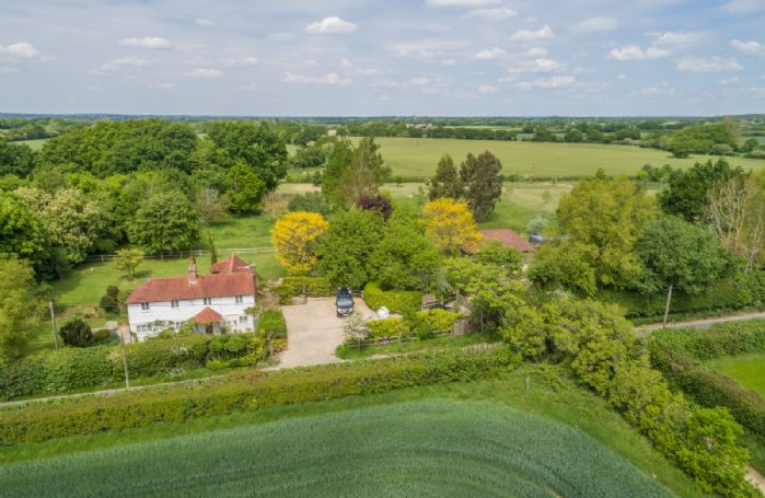 Aerial view of Cherry Cottage and stunning landscape