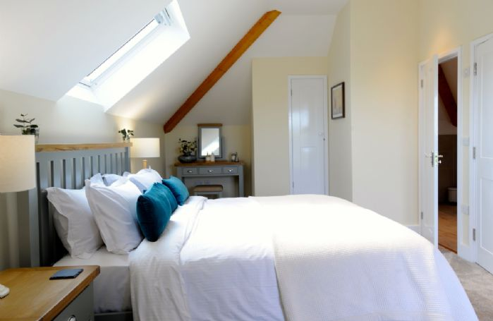 Second floor:  Bedroom suite with a super king size bed