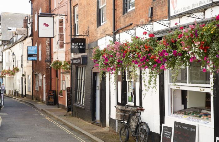 Ludlow's narrow, winding streets house many independent shops and tempting delis