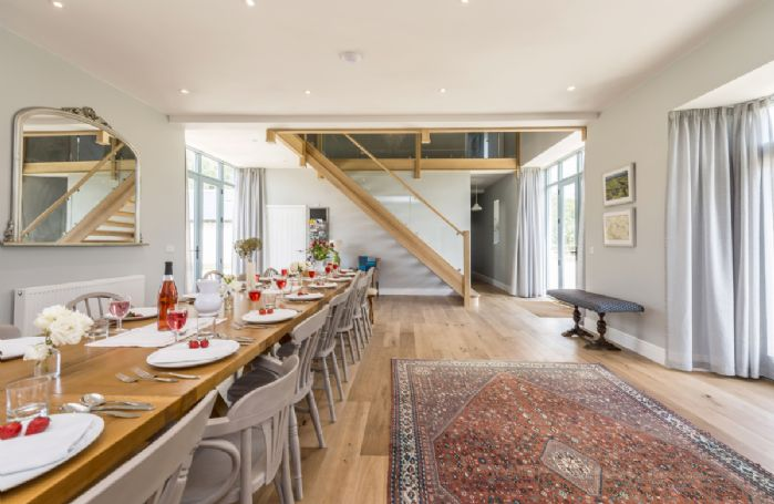 Ground floor:  Dining hall seating up to 20 guests