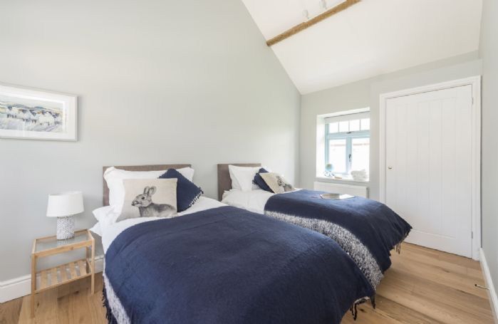 Tothery Cottage: Ground floor bedroom one with twin beds
