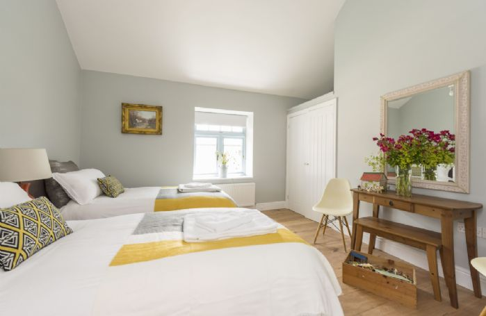 Bower Cottage:  Ground floor bedroom four with twin beds