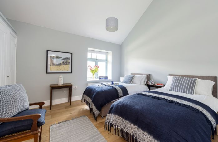 Bower Cottage:  Ground floor bedroom three with twin beds