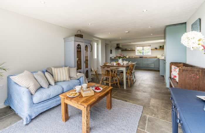 Ground floor:  Day room leading from the kitchen with bi-fold doors to terrace