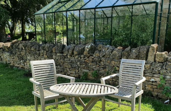 Garden furniture for two with magnificent views