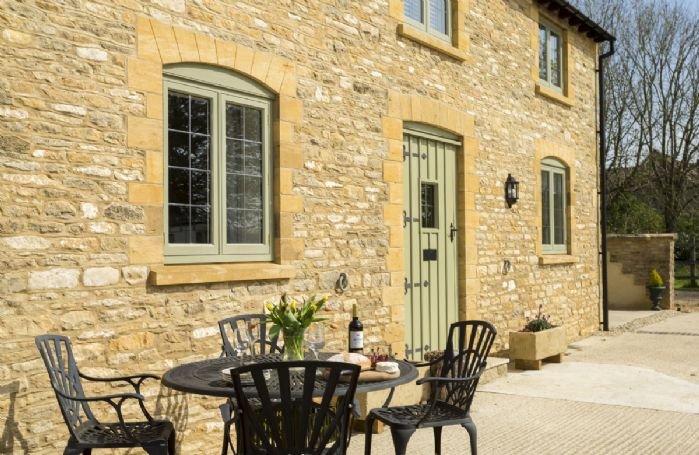 The courtyard has a lovely spot for al fresco dining