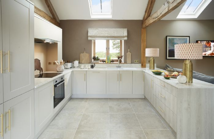 Ground floor: Light and airy open plan kitchen area