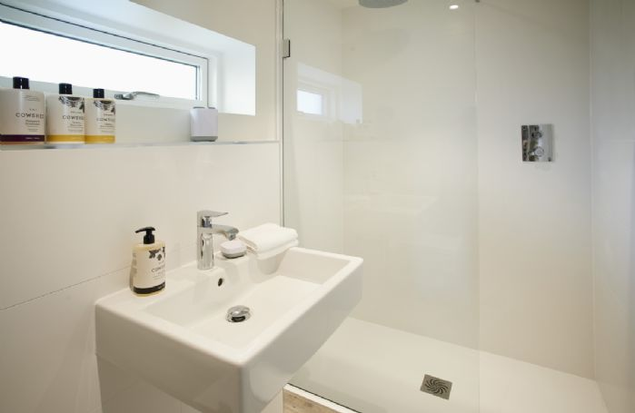 Ground floor: Bathroom with large walk in shower