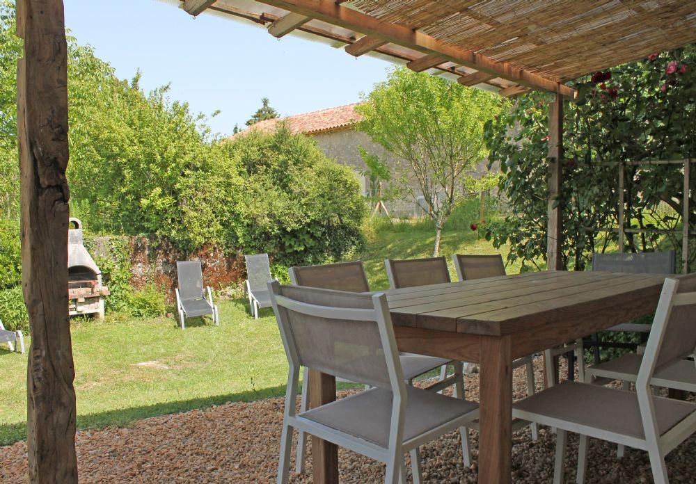 Back terrace..