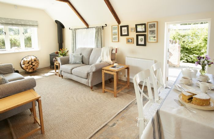 Ground floor: The light and airy sitting room with dining area