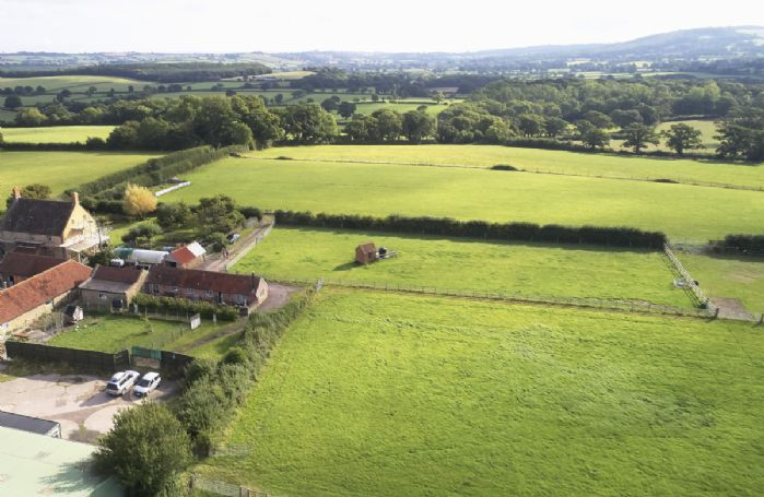 Aerial view of Downclose Piggeries and beautiful surrounding countryside