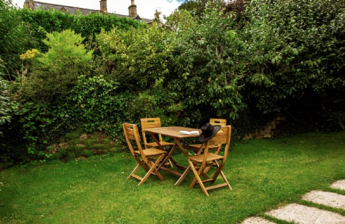 Garden furniture in the private gardens