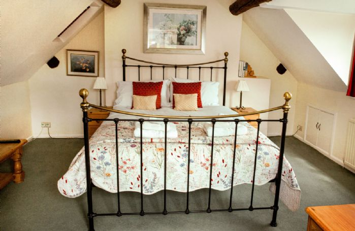 Second floor: Large double bedroom with 5' king size bed