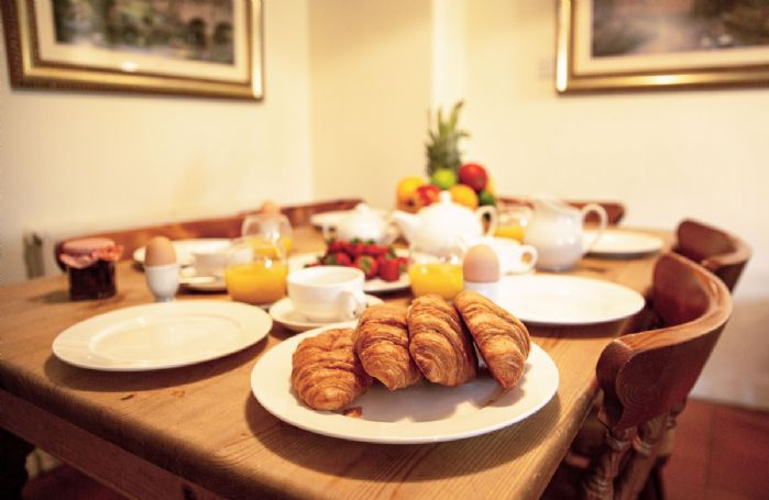 Ground floor: Enjoy a delicious breakfast in the open plan dining area