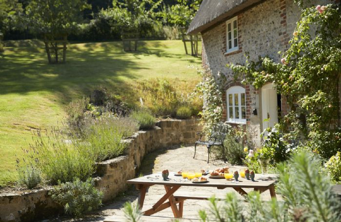 Delightful garden with outdoor seating