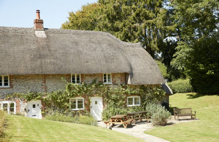 Beautiful thatched roof and original features of this historic cottage