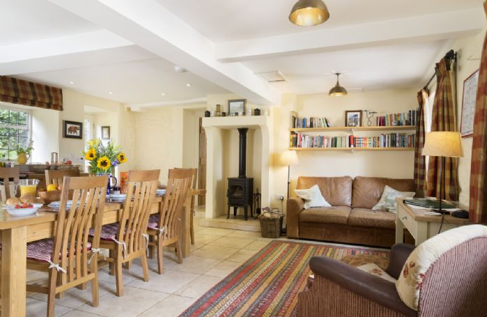 Ground floor: Large kitchen with dining table seating eight guests