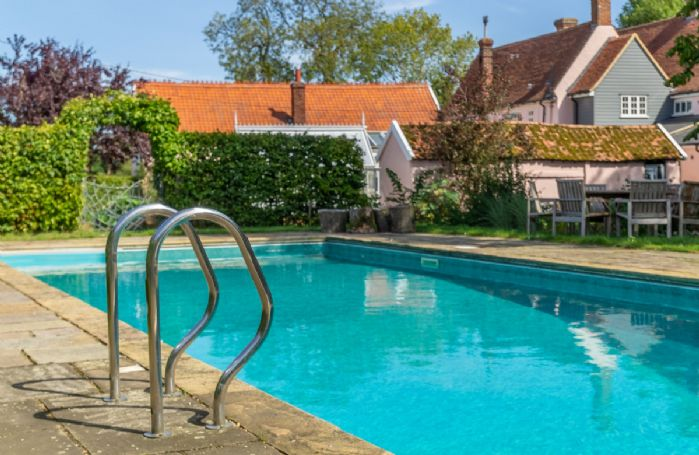 The heated swimming pool available from May to September