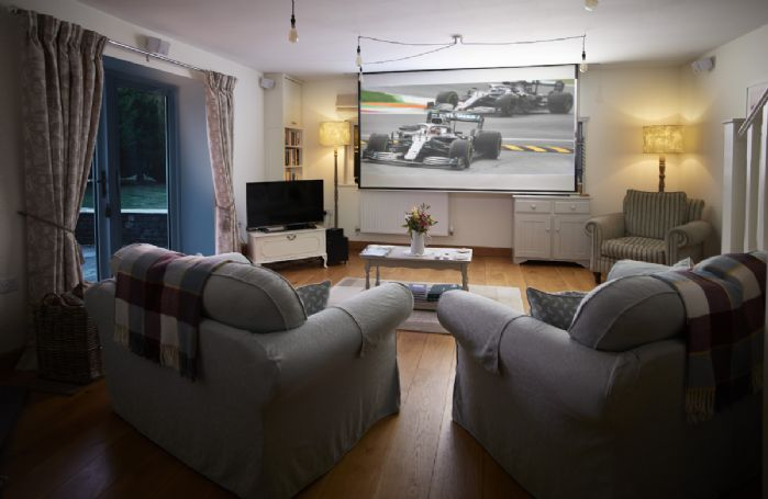 Ground floor: Stunning home cinema system in the sitting room