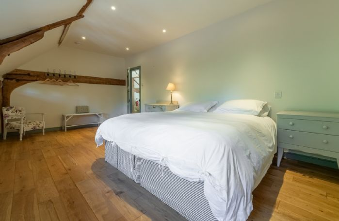 Butley Barn first floor: Bedroom two with 6' zip and link super-king bed