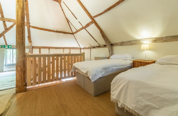 Butley Barn first floor: Dormitory with two 3' single beds
