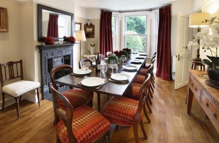 Ground floor: Dining room seating twelve guests