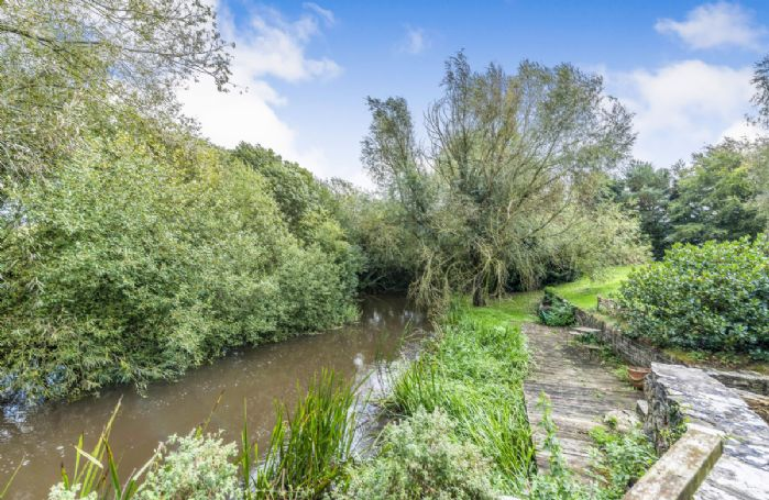 The River Frome quietly passing by