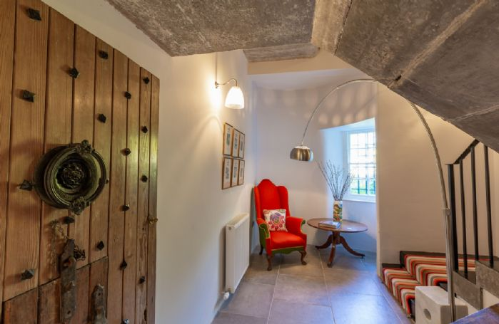 Ground floor: Hallway leading to the first floor staircase
