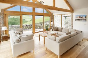Hause Hall Farm:  Ground floor: Open plan day room with spectacular views