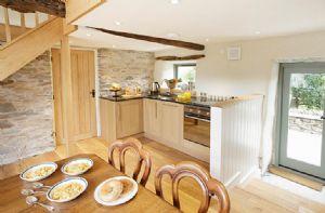Cruik Barn:  Ground floor:  Breakfasting kitchen