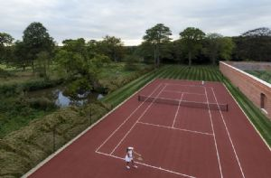 The tennis court