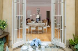 Lower Ground floor:  French doors leading to a private patio