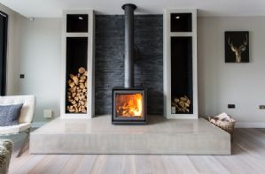 Wood burning stove in the sitting room