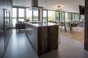 First floor open plan kithen and dining area