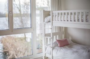Childrens bedroom with bunk beds