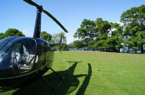 Arrive in style at Waternook in a private helicopter