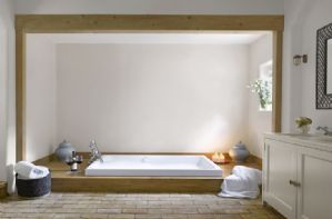 Ground floor: En-suite bathroom with sunken bath