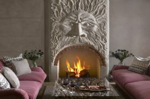 Stunningly unique fireplace