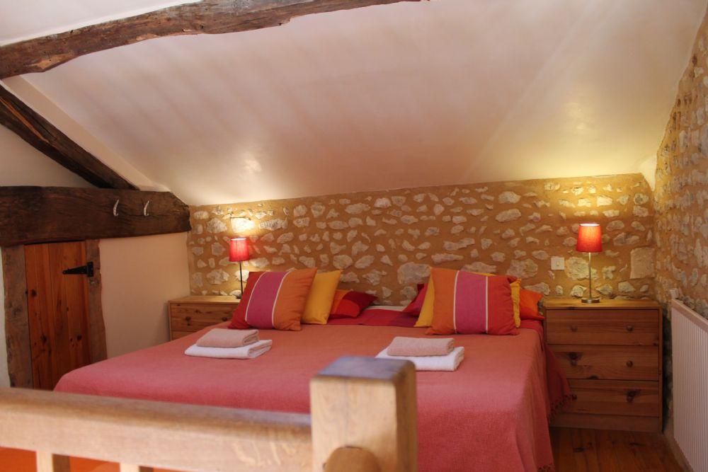 The mezzanine bedroom..