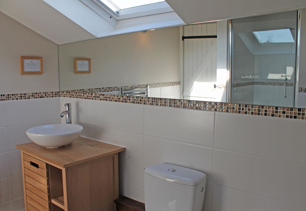 The bathroom..