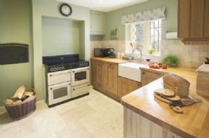 Ground floor:  Farmhouse kitchen with bread oven