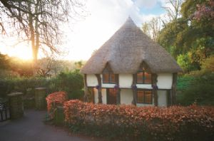 Higher Lodge, a listed thatched property dating back to the 17th Century