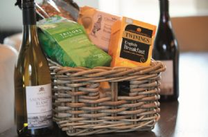 On arrival guests will be treated to a delicious hamper with local produce