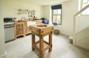Open plan handmade kitchen