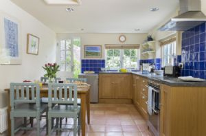Ground floor: Spacious kitchen/dining room with garden views